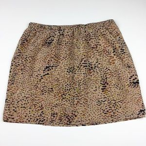 Madewell Broadway & Broome Silk Speckled Skirt